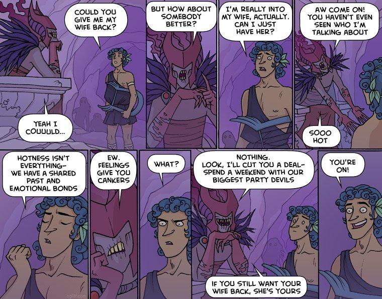 Orpheus takes the elevator