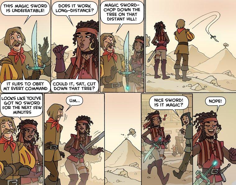 The sword is way too keen.